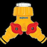 """Коннектор для крана подвійний HoZelock 2256 1/2"""" / 3/4"""" (G1/2 і G3/4)"""