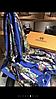 Красивый шелковый синий платок палантин
