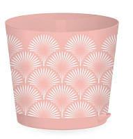 Горшок для цветов Easy Grow D 200 с прикорневым поливом 4 л, Розовый сад