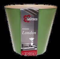 Горшок для цветов London D 160 мм, 1,6 л, Оливковый
