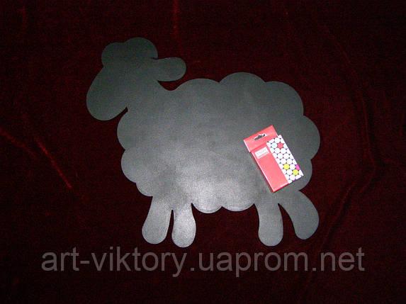 Меловая доска Овечка (39 х 42), декор, фото 2