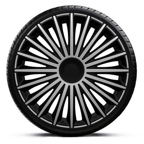 Колпаки колесные Dakota Silver&Black R16