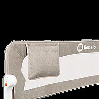 Захисний бортик для ліжка Lionelo EVA BEIGE melange, фото 5