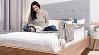 Захисний бортик для ліжка Lionelo EVA BEIGE melange, фото 7