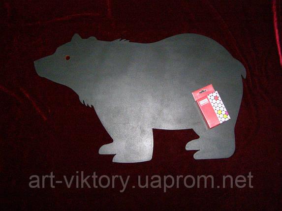 Меловая доска Медведь (36 х 58), декор, фото 2