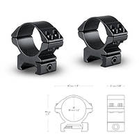Кольца Hawke Matchmount 30mm/Weaver/Low (22115)