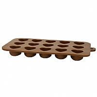 Силіконова форма для шоколаду Серці 20,5x10,3x1,8cm NRS16BAK