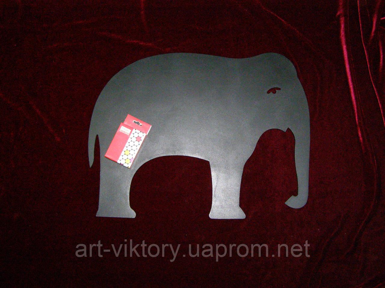 Крейдяна дошка Слон (38 х 49), декор