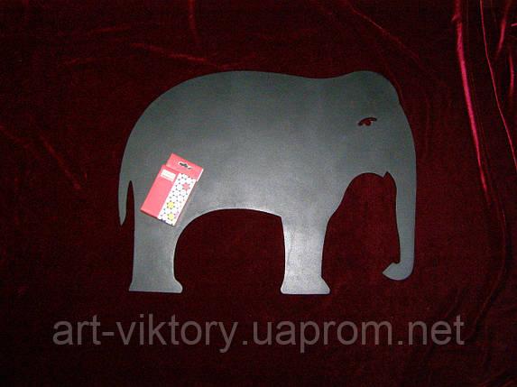 Крейдяна дошка Слон (38 х 49), декор, фото 2