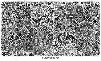Велика Пластина для стемпинга Візерунки Квіти розмір 10 на 16 см Пластини для стемпинга мереживо Стемпинг вензелі