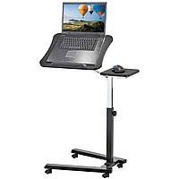 Ергономічний стіл для ноутбука на колесах з підставкою для мишки Tatkraft JOY 13407