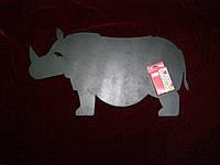 Меловая доска Носорог (31 х 56), декор