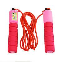 Спортивная скакалка со счетчиком, розовый