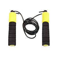 Спортивная скакалка со счетчиком, черно-желтый