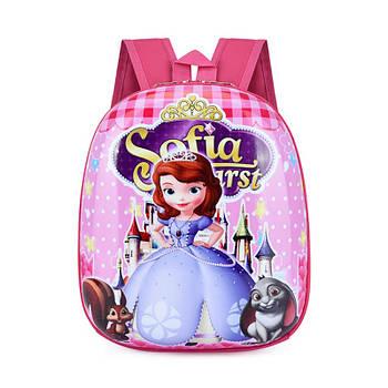 Детский рюкзак с твердым корпусом Lesko DK-13 Sofia The First принтом Прекрасная София
