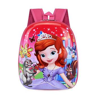 Детский рюкзак с твердым корпусом Lesko DK-13 Sofia принтом Прекрасная София