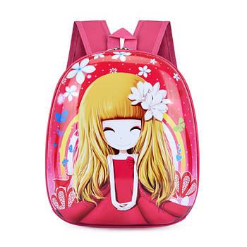 Детский рюкзак с твердым корпусом Lesko DK-13 Девочка принтом