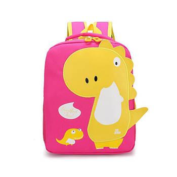 Детский рюкзак Tyrannosaur Lesko 201026 Pink с тираннозавром для прогулок садика