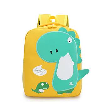 Детский рюкзак Tyrannosaur Lesko 201026 Yellow с тираннозавром для прогулок садика