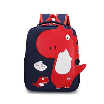 Детский рюкзак Tyrannosaur Lesko 201026 Dark Blue с тираннозавром для прогулок садика