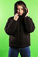 Куртка женская демисезонная VIDLIK до 0*С черная | Куртка весенняя осенняя Пуховик женский ЛЮКС качества, фото 1