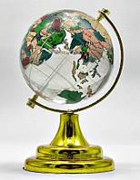 Глобус хрустальный цветной 9х6х6 см  6050