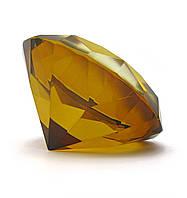 Кристалл хрустальный янтарь 8 см