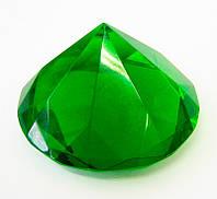 Кристалл хрустальный зеленый 8 см 6068