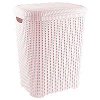 Кошик для білизни Flexi 55 л рожева