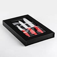 Набор керамических ножей 3шт NS6SETKN/RED