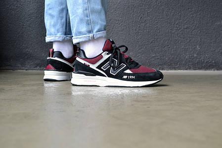 Чоловічі кросівки New Balance 574 Burghundy ( Репліка ), фото 2