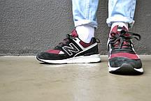 Кроссовки мужские New Balance 574 Burghundy Нью Беланс 574 Бургунди  Реплика, фото 2