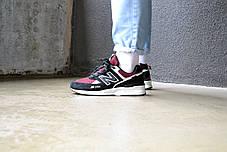 Кроссовки мужские New Balance 574 Burghundy Нью Беланс 574 Бургунди  Реплика, фото 3