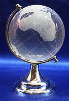 Глобус хрустальный белый 10х6,5х6,5 см  6051