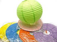 Фонарь цветной бумажный d-30 см