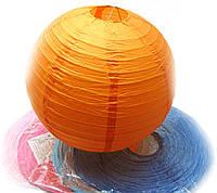 Фонарь цветной бумажный d-41 см