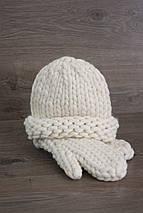 Толстая пряжа ручного прядения Elina Tolina 100% шерсть (обработана) белый, фото 3