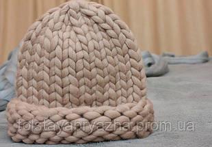 Товста пряжа ручного прядіння Elina Tolina 100% вовна (оброблена) натюрель, фото 3
