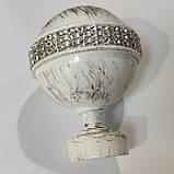 Карниз для штор металлический АВЕЯ двойной 25+19 мм РЕТРО 3.2м Цвет Белое золото, фото 2