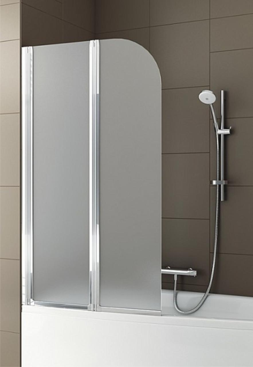 Шторка для ванны AQUAFORM MODERN 2 170-07011, хром, стекло,сатин, левая