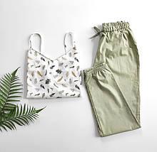 Домашний костюм-пижама 100% хлопок, майка и штаны