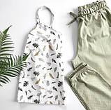 Домашний костюм-пижама 100% хлопок, майка и штаны, фото 4