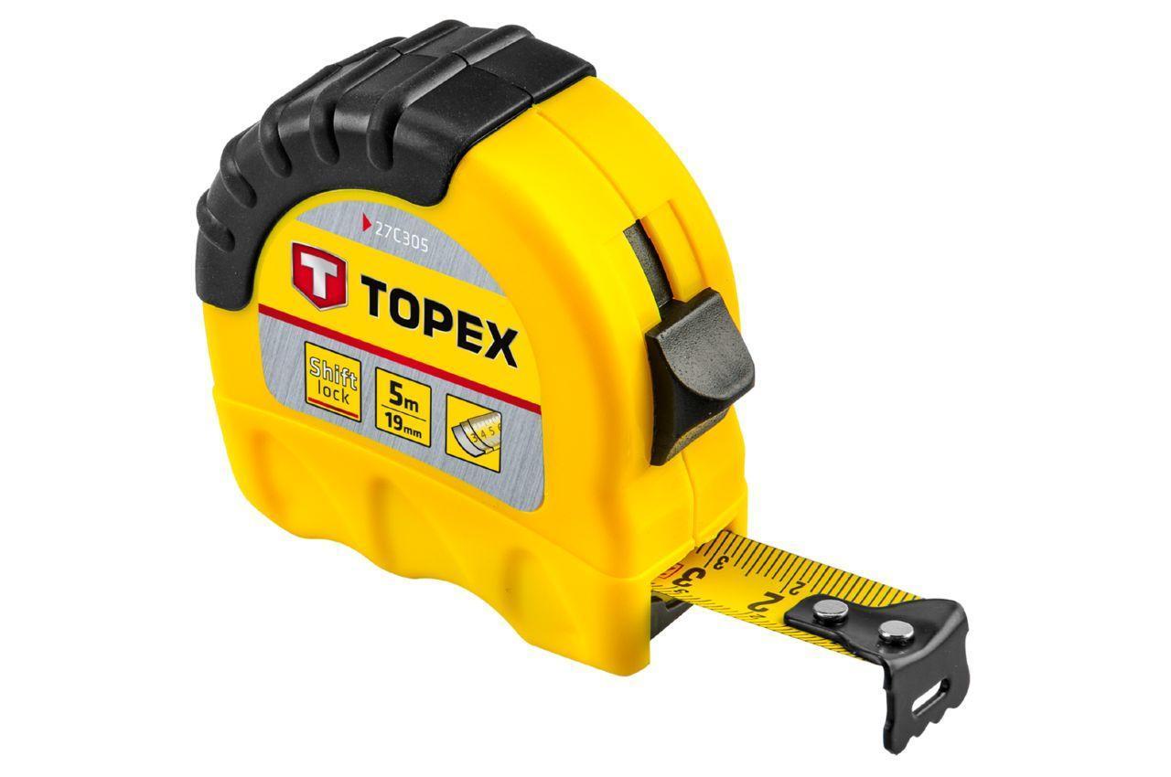 Рулетка Topex - 5 м х 19 мм, Shiftlock