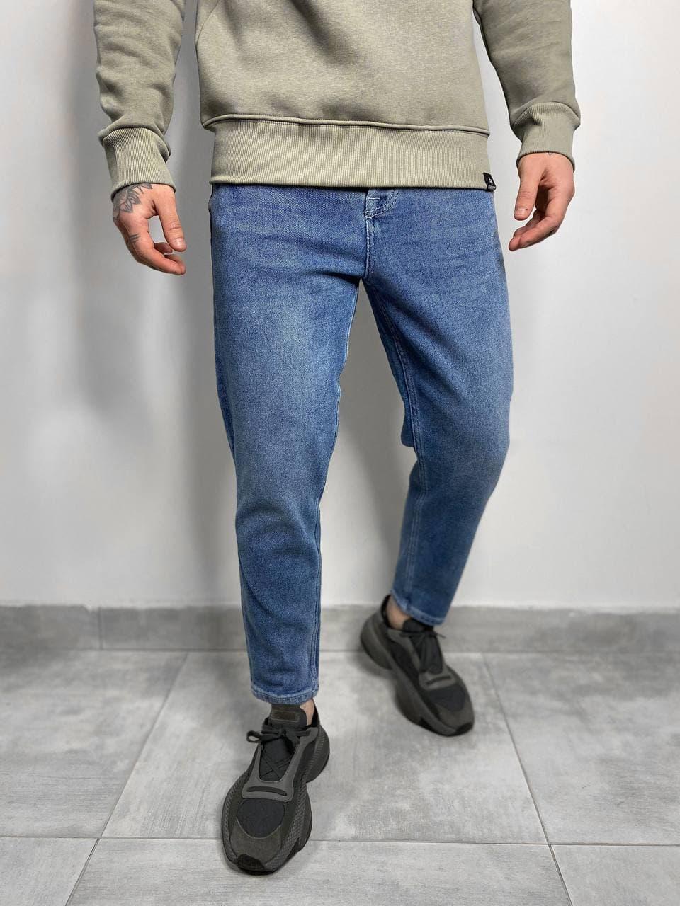 Мужские джинсы МОМ синие RD3384