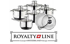 Набор кастрюль 12 в 1 Royalty Line RL-1231