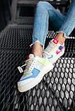 Женские кроссовки в стиле Nike Air Force Shadow White Pink, Найк Аир Форс (Реплика ААА), фото 6