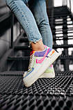 Женские кроссовки в стиле Nike Air Force Shadow White Pink, Найк Аир Форс (Реплика ААА), фото 2