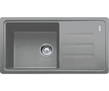 Мойка керамогранитная FRANKE BSG 611-62 серый камень 114 0367 747,  620x435