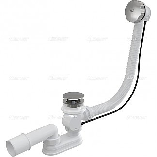 Сифон для ванны автомат комплект металл 80cm