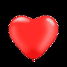 """Сердце 12"""" KALISAN-КЛ пастель красный"""